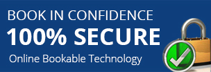 100% Secure - Book with confidence